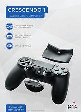 PRIF Crescendo 1 Headset Audio Verstärker inkl. Zusatz Akku für PS4 Controller
