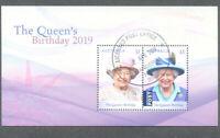 Australia-Queens Birthday 2019-Royalty min sheet fine used cto