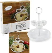 Etagere für Snacks Servierset Servier-Set Servierhilfe Snackschale aus Porzellan