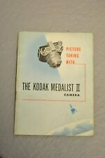 Kodak Medalist II camera instruction book in English. 36 pages. Blue cover. #1