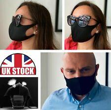 Thin Fashion Face Mask Ice Silk Cotton Reusable Washable Unisex UK Seller