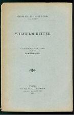 ACCADEMIA SCIENZE TORINO WILHEIM RITTER COMMEMORAZIONE CLAUSEN 1907 INGEGNERIA