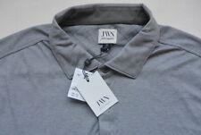 JWN John W Nordstrom Long Sleeve Polo Shirt XXL Gray Pima Cotton NWT