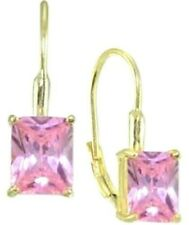 949d97543 Giani Bernini Pink CZ Cubic Zirconia 18k Gold Over Sterling Silver Earrings