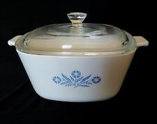 Corning Ware Cornflower Blue Casserole Covered Dish & Lid 1 3/4 Qt Vtg P-13/4-B