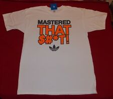 ADIDAS ORIGINALS MENS MASTERED THAT $#*T! SHORT SLEEVE T-SHIRT WHITE SIZE L