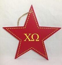 Chi Omega Star Decorative Wall Plaque Sorority College Dorm Decor 9-1/2""