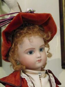 """Reproduction AT Antique Bisque head doll 16"""" tall SCS 1977 Composition body AF"""