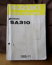 Genuine Suzuki parts catalogue book SWIFT mk1 SA310 1983-1985 3dr 5dr 1.0 3cyl