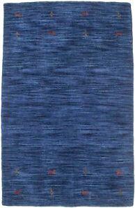 Tribal Design Solid Navy Blue Small 3X5 Oriental Modern Rug Home Decor Carpet