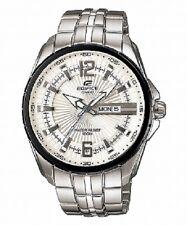 Casio EF-131AV Edifice White Dial Day/Date Display Stainless Steel Men's Watch