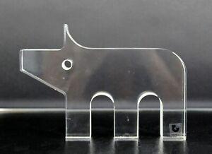 Mid Century Modern Pig Lucite Table Sculpture Silvio Russo for Guzzini 1970s