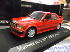 Mercedes Benz 190 E 2.5-16v Evo 1 1990 Rouge Red 1/300 MINICHAMPS 1:43