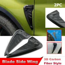 3D Carbon Fiber Style Car Side Wing Air Flow Fender Grill Intake Vent Sticker
