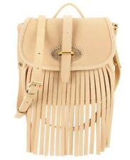 Dooney & Bourke Fringe Collection Fiona Saddle Bag Bone NWT