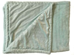 Mint Green Cozy Baby Blanket Ribbed Plush Velour Soft Security Lovey Quilt