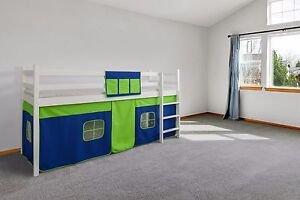 BED TENT Cabin Bed Tent Mid Sleeper Tent Bunk Bed Curtain FREE POCKET RRP14.99