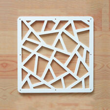 12Pcs Hanging Screen Divider White Wood-Plastic Panels Partition DIY Home Decor