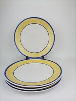 "Gibson Everyday China 10 3/4"" Dinner Plates. Set of 4 Tavernware Yellow"