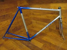 RARE FAUSTO COPPI LUGGED STEEL GILCO FLUTED STAR ROAD BIKE FRAME SET 55CM CHROME