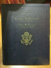 1933 F.D.ROOSEVELT- GARNER INAUGURAL PROGRAM LIMITED #310 SIGNED BY C.T. GRAYSON