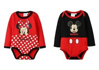 Disney Minnie Mickey Baby Girls Boys BodySuit Rompers BabyGrow Newborn-24 months