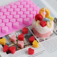 55 Wax Melt Mould Hearts Silicone Chocolate Mold Baking Jelly Ice Cube Tray DIY