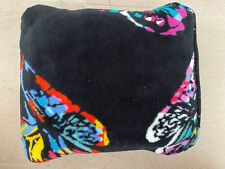 Vera Bradley Fleece Travel Blanket Butterfly Flutter Black