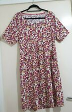 Adini Pink Floral Jersey Tunic Dress With Pockets L 2 UK20