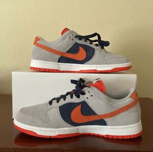 Nike Dunk Low 365 By You Custom ID Suede Grey Orange Navy Size 12 Men's Shoes