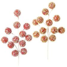 Beaded Candy Ball Christmas Cake Pops Floral Spray Set of 2 18 in F3311946 RAZ