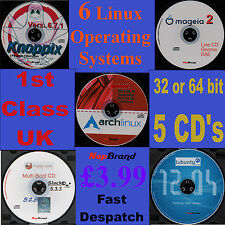 6 Linux OS on 5CDs, Slacko & Lupcid Puppy, Lubuntu, Mageia, Knoppix & Arch Linux