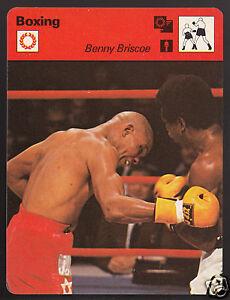 BENNY BRISCOE USA Boxing Champion Boxer 1979 SPORTSCASTER CARD 45-02A