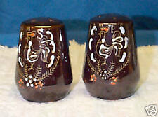 Rooster Redware red ware Salt & Pepper Shakers hand paint ed great color s chick