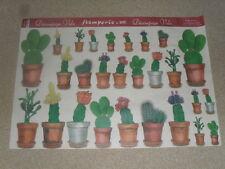 papier voile pour découpage technique serviette (cactus en pot) (48 X 33,5cm)