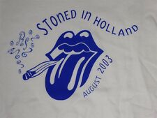 Rolling Stones Stoned in Holland August 2003 2XL White T-Shirt RARE!