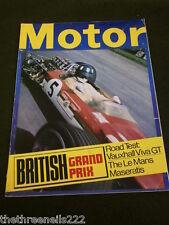 MOTOR MAGAZINE - LE MANS MASERATIS - JULY 27 1968