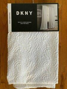 DKNY CLOUD Textured Window Curtains 2 Back Tab Panels 50 x 84/96 Room Darkening
