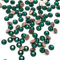 Emerald green Swarovski 2078 XIRIUS Crystal Flatbacks Hotfix Iron-on 5mm ss20
