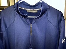Men's Mint Under Armour ColdGear 1/4 Pullover - Xl - Navy Blue Reactor Gym Run