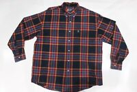 MENS XL Chaps Ralph Lauren button down long sleeve plaid shirt cotton multicolor