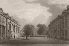 SAINT KATHARINE'S HALL, Cambridge. LE KEUX 1841 old antique print picture