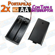 PORTAPILAS 2x AA con tapa R6 3v cable alimentacion PCB battery holder