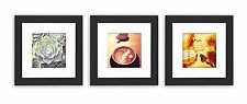 Smartphone Frames Collection,Set of 3, 6x6-inch Square Photo Wood Frames , Black