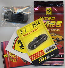 Micro Cars 2015 FERRARI California T #02 +card+sticker+bag+bpz 1/100 Kyosho MIB