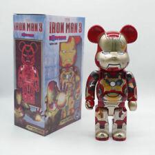 BE@RBRICK Marvel Iron Man Mark XLII 42 Damage version Bearbrick Figure 400% 28CM