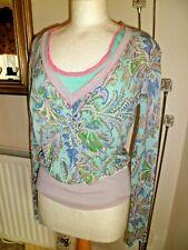 Unusual Whistles Multicoloured light knit Jumper 100% Cotton Size 1