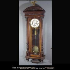 Antique Austrian 1 Weight Vienna Regulator Clock
