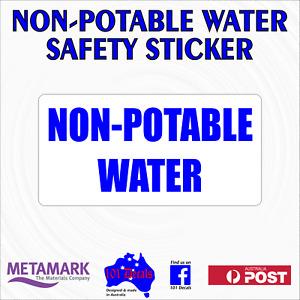 NON-POTABLE WATER ONLY safety sticker sign.Caravan,motorhome,camper van,worksite