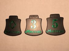 3 Masters Golf Club Cover Tabs 3 5 and Diamond Souvenir from 2002 Masters